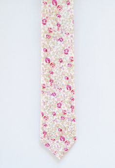 Pink wedding tie, Liberty of London Necktie, pink men's tie, blush pink, skinny tie, wedding necktie, strawberry thief, liberty of london