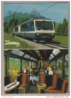 Montreux Oberland Bernois Super Panoramic Express - Trains - Railway - Bahn - Trains
