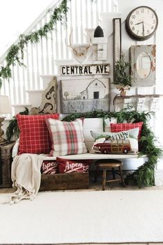 Image result for farmhouse christmas decorating ideas