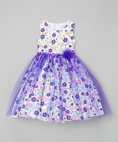 Another great find on #zulily! Purple Floral A-Line Dress - Infant, Kids & Tween #zulilyfinds