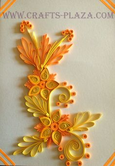 Quilled greeting card