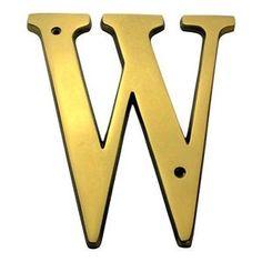 6 Inch Brass Letters