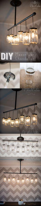 lámparas con frascos de vidrio