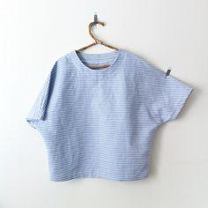 "76 Likes, 17 Comments - HOMAKO (@homakoyoko) on Instagram: ""Handmade blouse No.3 for @ayasaki_la これ着るともっとかわいいよー!!私もダブルガーゼか薄い麻で作ろうかと、、、#handmade #stripe"""