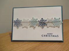 Christmas Card idea using Flurry of Wishes from Stampin' Up