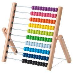 IKEA - МУЛА, Счеты, , Четыре желтых, три красных и пять синих... Счеты помогут ребенку изучать цвета, практиковаться в счете и, конечно, с гордостью демонстрировать вам свои достижения.Развивает мелкую моторику и логическое мышление.