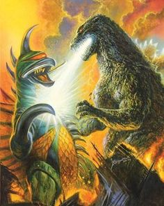 Gigan vs Godzilla by Bob Eggleton