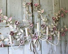 Large spoon w/ fork wall hanging shabby by AnitaSperoDesign