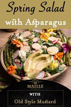 Asparagus Side Dish, Asparagus Salad, Fresh Asparagus, Asparagus Recipe, Salad Recipes For Dinner, Salad Dressing Recipes, Healthy Salad Recipes, Healthy Meals, Spring Meals