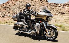 Download wallpapers Harley-Davidson FLHTK Ultra Limited, 2017 bikes, touring motorcycles, biker, Harley-Davidson
