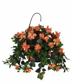 Beautiful Artificial Hanging Flower Baskets for Home and Office Decoration
