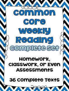 Common Core Weekly Reading Review! {3rd-5th Grade Sets} - Teaching to Inspire with Jennifer Findley