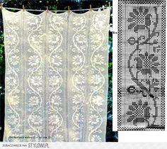 Szydełkomania   cortinas crochet