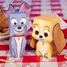 Tektonten Papercraft - Free Papercraft, Paper Models and Paper Toys: Disney Papercraft: Lady and the Tramp Paper Toys
