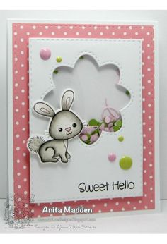 Your Next Stamp card by Anita - YNS Supplies: Woodland Cuties stamp and die set Kids Cards, Baby Cards, Acetate Cards, Shaker Cards, Card Tutorials, Card Tags, Cool Cards, Greeting Cards Handmade, Making Ideas