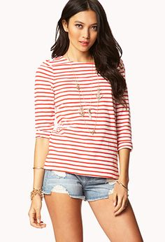Essential Striped Tee | FOREVER 21 - 2042198609