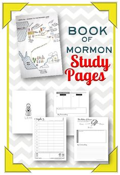 Book of Mormon Study Pages!  These are awesome for personal or family study!