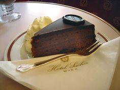 Sacher torte, or sachertorte. #Sachertorte
