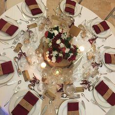 Mariage d'automne  centre de table bordeaux et écru mariage la ferme de bouchemont