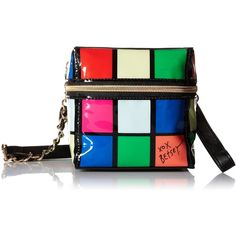 Betsey Johnson Rubix Cube Cross Body Bag ($40) ❤ liked on Polyvore featuring bags, handbags, shoulder bags, purse crossbody, crossbody purse, cross body, hand bags and purse shoulder bag