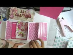 ▶ Quick&Easy mini album for gift idea! Tutorila part 2(Final part) - YouTube  white base pages