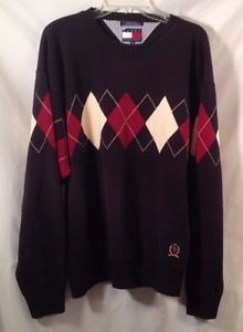 Tommy #Hilfiger Crew Neck #Sweater 100% Cotton #Lion Crest #Argyle Mens Size #XL http://www.ebay.com/itm/231830679442