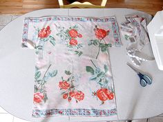 DIY: vintage scarf dress - eat, knit & diy