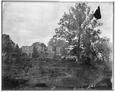 Mannsfield Ruins, Fredericksburg, Virginia, 1770-1776 bu Mann Page IV. Burned shortly after the War Between the States.