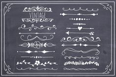 ☆Hand Drawn Text Dividers Vector by The Pen & Brush on Creative Market