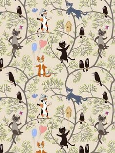 15 Ideas for cats wallpaper pattern wallpapers art prints Wallpaper Gatos, Paper Wallpaper, Cat Wallpaper, Iphone Wallpaper, Wallpaper Decor, Graphic Wallpaper, Print Wallpaper, Art And Illustration, Pattern Illustration