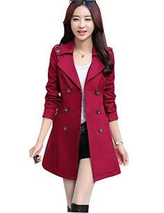 Ashir Aley Womens Long Plus Size Turndown Collar Double Breasted Pea Trench Coat (M,Burgundy) Ashir Aley http://www.amazon.com/dp/B014WRP466/ref=cm_sw_r_pi_dp_jh2awb0NSQVM9