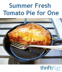 This is a very juicy pie. It's tomatoes after all, so be prepared for drippage! If you don't care for tomato skins like me, they pull right off with your fork.