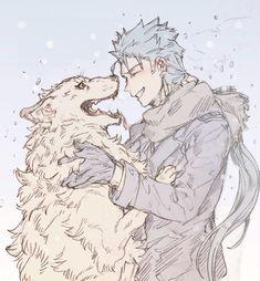 """Dogs are mans best friend"" Lancer appreciation post & Manga Manga Art, Manga Anime, Anime Art, Character Concept, Character Art, Character Design, Fate Characters, Fantasy Characters, Fate Stay Night Anime"