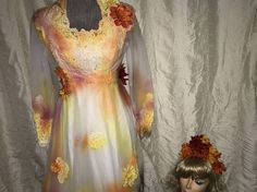 Day of the Dead corpse bride Costume dress womens size 5
