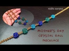 If you like my work and would like to support my channel, please feel free to donate money for r. Beaded Jewelry, Beaded Necklace, Beaded Bracelets, Jewellery, Ball Necklace, Necklace Set, Diy Jewelry Inspiration, Beading Tutorials, Crystal Ball