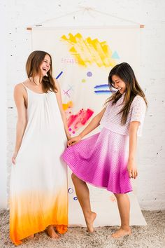 Jump into Spring with This DIY Dip-Dye Ombré Dress