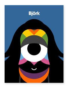 Craig & Karl portrait of Bjork. Love it.