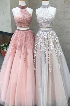 Prom Dresses Lace, Prom Dresses Two Piece, Modest Prom Dresses, A-Line Prom Dresses, Custom Made Prom Dresses Prom Dresses Long Outlet Delightful Prom Dress For Cheap Two Piece Prom Dress A-line Simple Modest African Lace Cheap Long Prom Dress # Prom Dresses Long Pink, Lace Evening Dresses, Dress Lace, Wedding Dresses, Tulle Wedding, Dress Prom, Dress Formal, Party Dress, Summer Dresses