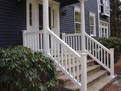 outside porch handrails for stairs | Precious Vinyl Deck Stair Railings | 434863 | Home Design Ideas