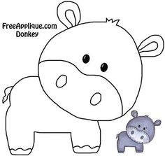 Felt craft inspiration: animals for baby quilt [already
