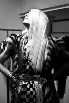 Andrej Pejic at Jean Paul Gaultier. Photography by James Bort