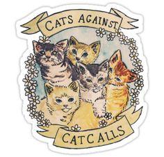 Katzen für mehr Frauenpower!  Diesen und viele weitere Sticker mit Tierdesigns findest du bei Redbubble im Shop.