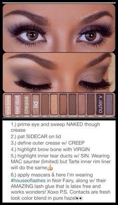 Best Ideas For Makeup Tutorials    Picture    Description  Naked Palette Tutorial    - #Makeup https://glamfashion.net/beauty/make-up/best-ideas-for-makeup-tutorials-naked-palette-tutorial/