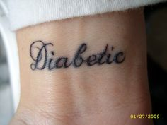 Sure, there are those bracelets but these are pretty cool. Check out the board! DIABETIC TATTOO | diabetic tattoo | Tattooed Up