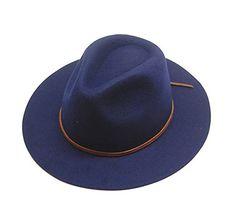 BRIXTON WESLEY FEDORA HAT ブリクストン フェルトハット ハット 帽子 ウール ネイビー Mサイズ [並行輸入品]