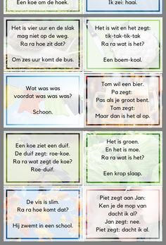Grappen Learn Dutch, Challenge Games, Dutch Language, Teaching Literature, Busy Boxes, Moraira, School Posters, Brain Breaks, Quotes For Kids