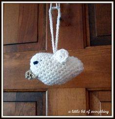 Crocheted Dove