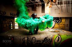 Smoke Grenade - Smoke grenade portrait.   www.JamesYoungPhotography.com
