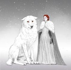 """I miss him too..."" Sansa whispers  Jonsa, Jon x sansa  By:https://lucife56.tumblr.com/"