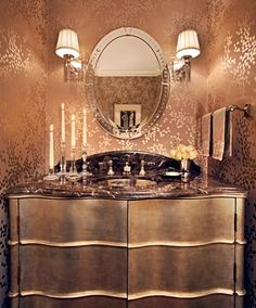 20 Cool Ideas To Make Your Walls Metallic And Shiny | Shelterness